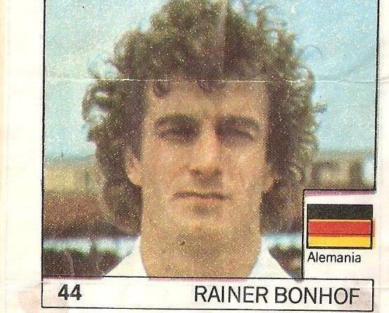 Super Cromos Los Mejores del Mundo (1981). Bonhof (Alemania Federal). Chicle Fútbol Boomer.