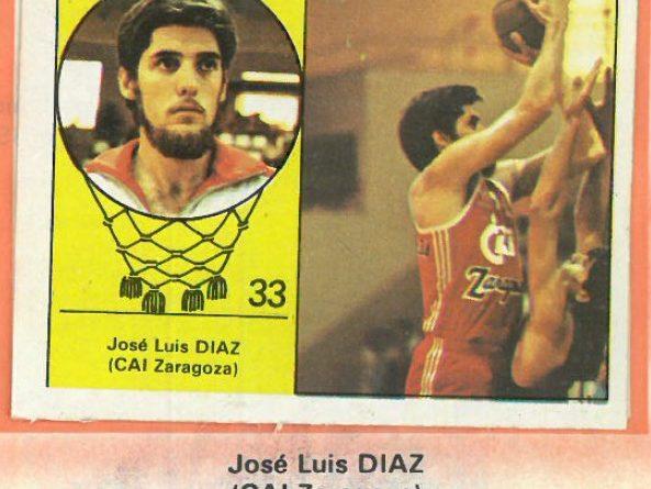 Campeonato Baloncesto Liga 1984-1985. José Luis Díaz (CAI Zaragoza). Ediciones J. Merchante - Clesa. 📸: Emilio Rodríguez Bravo.