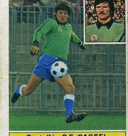 Liga 81-82. Castel (C.D. Castellón). Ediciones Este. 📸 Grupo de Facebook Nuestros álbumes de cromos.