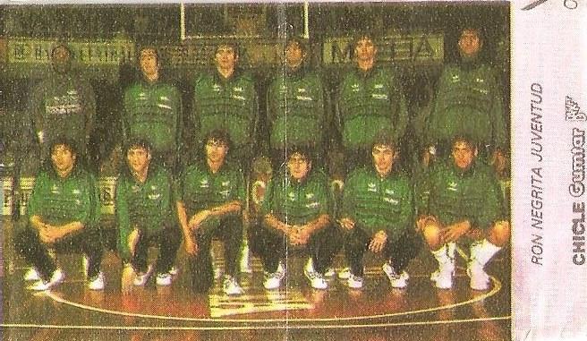 Liga Baloncesto 1985-1986. Plantilla del (Ron Negrita Juventud). Chicle Gumtar.