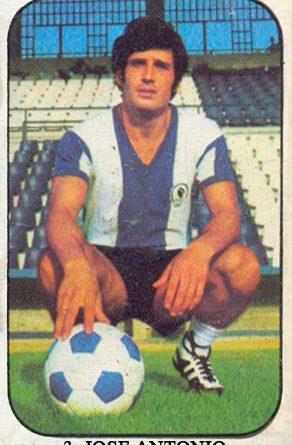 Liga 1976-77. José Antonio (Hércules C.F.) Ediciones Este. 📸: Grupo de Facebook Nuestros álbumes de cromos.
