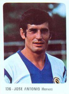 Liga 1979-80. José Antonio (Hércules C.F.) Editorial Cromo Crom. 📸: Grupo de Facebook Nuestros álbumes de cromos.