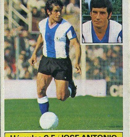 Liga 1981-82. José Antonio (Hércules C.F.) Ediciones Este. 📸: Grupo de Facebook Nuestros álbumes de cromos.