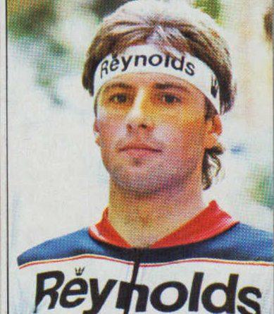 1983. Vuelta Ciclista - Ases Internacionales del Pedal. Julián Gorospe (Reynolds). (Editorial J. Merchante - Chocolates Hueso). 📸 Grupo de Facebook Nuestros álbumes de cromos.