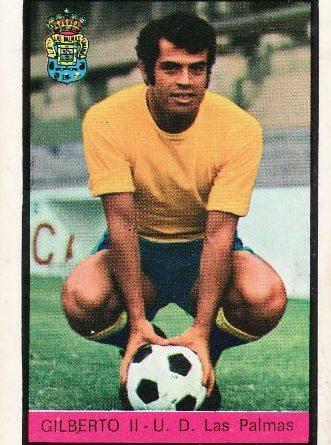 Campeonato de Liga 1972-73 Gilberto II (UD Las Palmas). Editorial Fher. 📸 Grupo de Facebook Nuestros álbumes de cromos.
