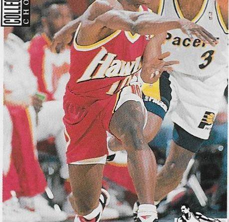Collector´s Choice NBA 1994 -1995. Mookie Blaylock (Atlanta Hawks). Upper Deck. 📸: Emilio Rodríguez Bravo.