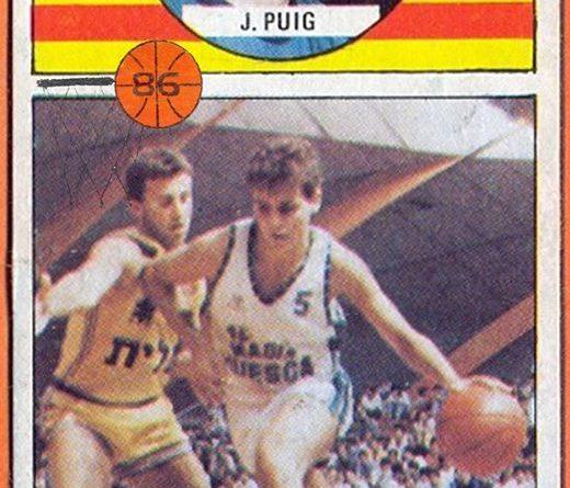 Campeonato de Liga Baloncesto 86-87. Jordi Puig (Magia Huesca). Editorial Merchante. 📸: Grupo de Facebook Nuestros álbumes de cromos.