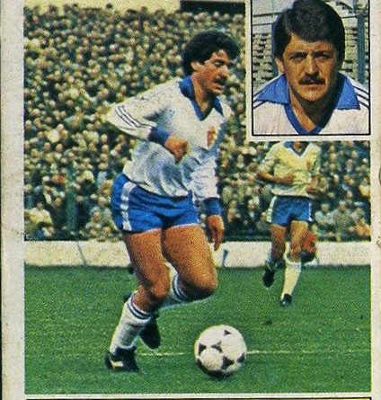 Liga 81-82. Benedé (Real Zaragoza). Ediciones Este. 📸 Grupo de Facebook Nuestros Álbumes de Cromos.