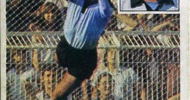 Liga 81-82. Bocoya (Cádiz C.F.). Ediciones Este. 📸: Grupo de Facebook Nuestros álbumes de cromos.