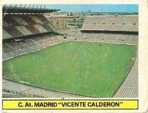 Liga 81-82. Estadio Vicente Calderón (Atlético de Madrid). Ediciones Este.