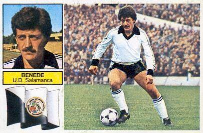 Liga 82-83. Benedé (U.D. Salamanca). Ediciones Este. 📸 Grupo de Facebook Nuestros Álbumes de Cromos.