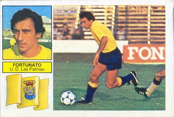 Liga 82-83. Fortunato (U.D. Las Palmas). Ediciones Este. 📸 Grupo de Facebook Nuestros álbumes de cromos.