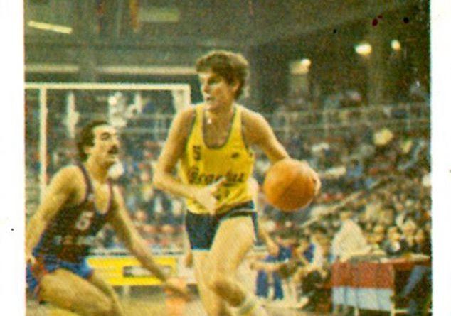 Liga Baloncesto 1984-1985. Jordi Puig (Cacaolat Granollers). Editorial Eurocrom. 📸: Grupo de Facebook Nuestros álbumes de cromos.