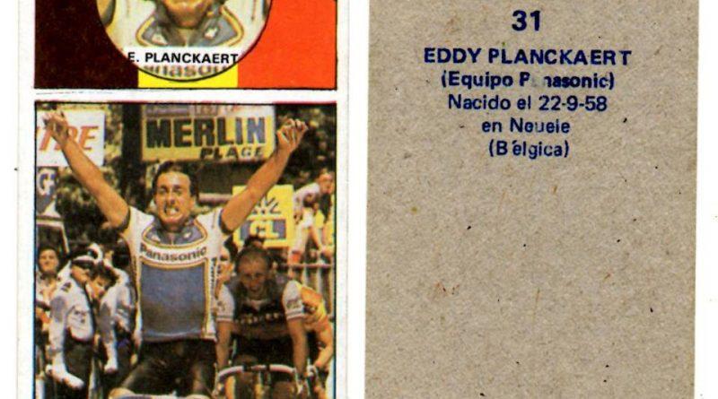Vuelta ciclista, Ases del pedal. Eddy Planckaert (Panasonic). Editorial Merchante. 📸 Antonio Sevillano Gil.