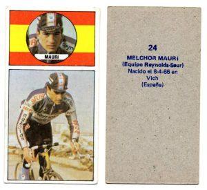 Vuelta ciclista, Ases del pedal. Melchor Mauri (Reynolds-Seur). Editorial Merchante. 📸 Antonio Sevillano Gil.
