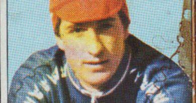 1983. Vuelta Ciclista - Ases Internacionales del Pedal. Jesús Hernández Úbeda (Reynolds). Editorial J. Merchante - Chocolates Hueso. 📸: Grupo de Facebook Nuestros álbumes de cromos.