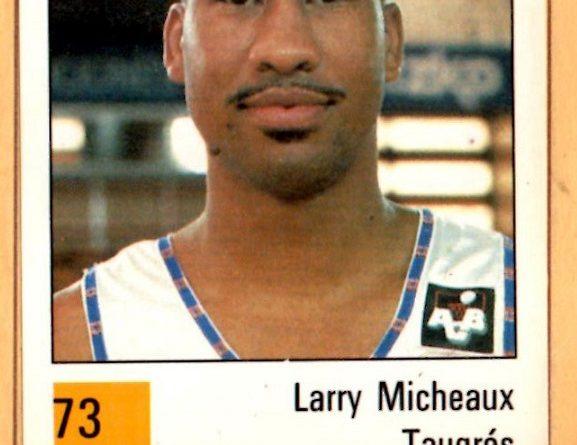 Basket 90 ACB. Larry Micheaux (Taugrés). Ediciones Panini. 📸: Grupo de Facebook Nuestros álbumes de cromos.