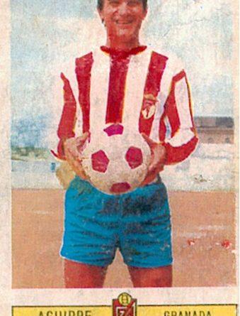 Liga 73-74. Aguirre Suárez (Granada C.F.). Ediciones Este. 📸: Toni Izaro.