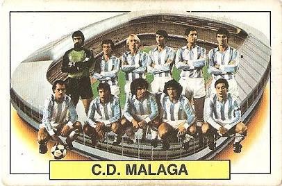 Liga 83-84. Alineación CD Málaga (CD Málaga). Ediciones Este.