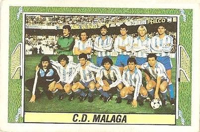 Liga 84-85. Alineación CD Málaga (CD Málaga). Ediciones Este.