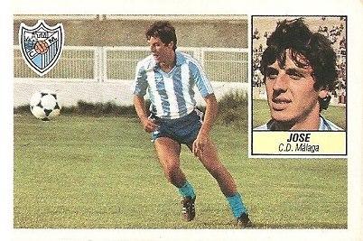 Liga 84-85. Jose (C.D. Málaga). Ediciones Este.