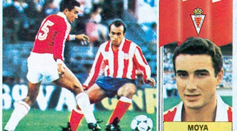 Liga 86-87. Moya (Real Murcia). Ediciones Este. 📸: Grupo de Facebook Nuestros álbumes de cromos.