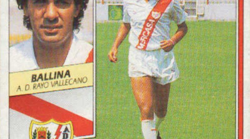 Liga 89-90. Ballina (Rayo Vallecano). Ediciones Este. 📸: Grupo de Facebook Nuestros álbumes de cromos