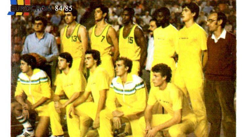 Liga Baloncesto 1984-1985. Plantlla Collado Villalba (Collado Villalba). Editorial Eurocrom. 📸: Grupo de Facebook Nuestros álbumes de cromos.