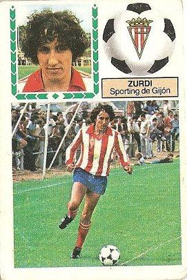 Liga 83-84. Zurdi (Sporting de Gijón). Ediciones Este.