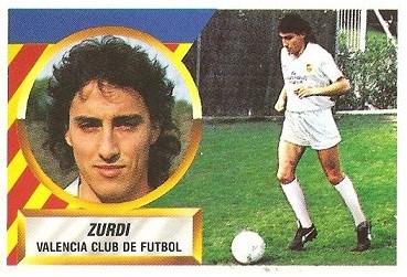 Liga 88-89. Zurdi (Valencia C.F.). Ediciones Este.