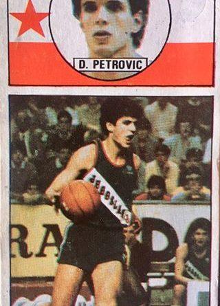 Baloncesto 1986-1987. Drazen Petrovic (Yugoslavia). Ediciones J. Merchante. 📸: Alberto Fernández Rodríguez