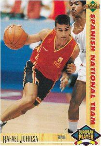 Basketball Card 1991 - 1992. Rafael Jofresa (España). Upper Deck. 📸: Emilio Rodríguez Bravo.