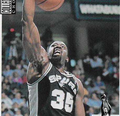 Collector´s Choice NBA 1994 -1995. Antoine Carr (San Antonio Spurs). Upper Deck. 📸: Emilio Rodríguez Bravo.