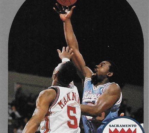 Cromos 1989 - 1990. Antoine Carr (Sacramento Kings). NBA Hoops. 📸: Emilio Rodríguez Bravo.