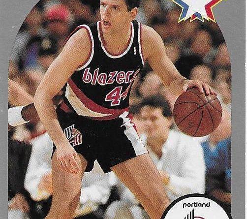 Cromos 1989 -1990. Drazen Petrovic (Portland Trail Blazers). NBA Hoops. 📸: Emilio Rodriguez Bravo.