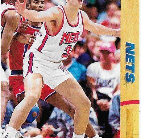 Cromos NBA 1991 - 1992. Drazen Petrovic (New Jersey Nets). Upper Deck. 📸: Emilio Rodriguez Bravo.