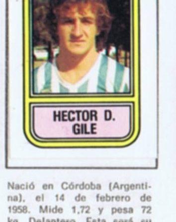 Fútbol 82. Gilé (Córdoba C.F.). Editorial Cromo Crom - Panini. 📸: Grupo de Facebook Nuestros álbumes de cromos.
