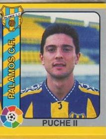 Liga 94-95 Puche II (Palamós CF.). Mundicromo Futbol Total 95. 📸: Grupo de Facebook Nuestros álbumes de cromos.