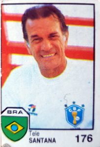 México 86. Telê Santana (Brasil). Cromos Barna. 📸: Jaume Viusà.