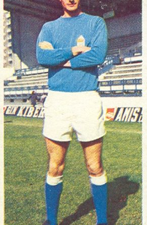 Liga 75-76. Iriarte (Real Oviedo). Ediciones Este. 📸: Toni Izaro.