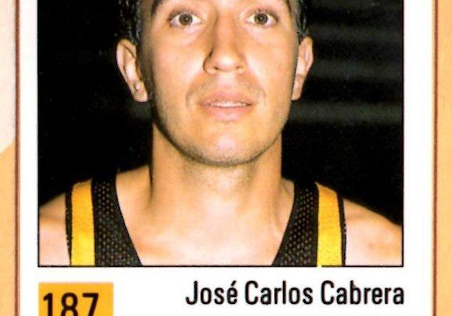 Basket 90 ACB. José Carlos Cabrera (Caja Canarias). Ediciones Panini. 📸: Grupo de Facebook Nuestros álbumes de cromos.