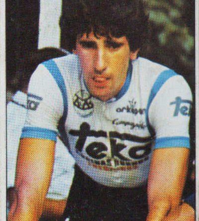 1983. Vuelta Ciclista - Ases Internacionales del Pedal. Federico Etxabe (Teka). (Editorial J. Merchante - Chocolates Hueso). 📸: Grupo de Facebook Nuestros álbumes de cromos.