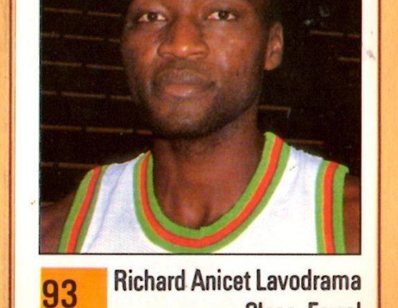 Basket 90 ACB. Anicet Lavodrama (Clesa Ferrol). Ediciones Panini. 📸: Grupo de Facebook Nuestros álbumes de cromos.