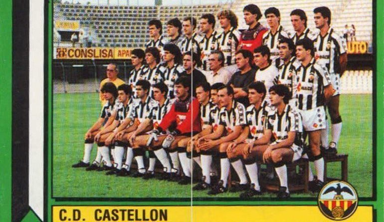 Fútbol 90. C.D. Castellón (C.D. Castellón). Ediciones Panini. 📸: Grupo de Facebook Nuestros álbumes de cromos.