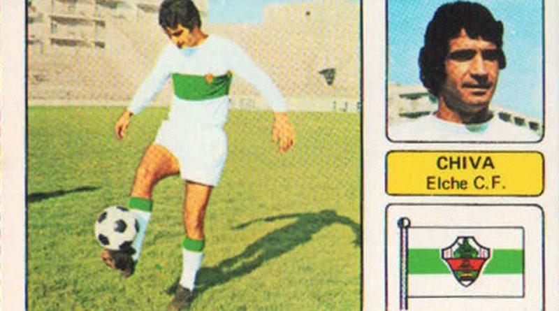 Liga 1973-74. Chiva (Elche C.F.). Editorial Fher. 📸: Grupo de Facebook Nuestros álbumes de cromos.