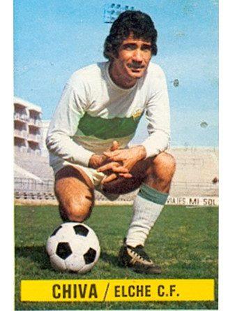 Liga 1974-75. Chiva (Elche C.F.). Ediciones Este. 📸: Grupo de Facebook Nuestros álbumes de cromos.