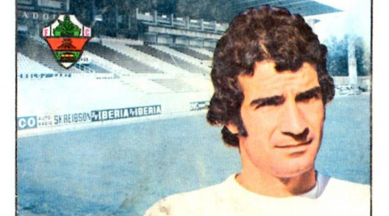 Liga 1974-75. Chiva (Elche C.F.). Editorial Fher. 📸: Grupo de Facebook Nuestros álbumes de cromos.