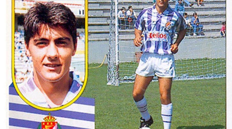 Liga 91-92. César Gómez (Real Valladolid). Ediciones Este. 📸: Grupo de Facebook Nuestros álbumes de cromos.