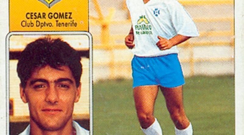 Liga 92-93. César Gómez (C.D. Tenerife). Ediciones Este. 📸: Grupo de Facebook Nuestros álbumes de cromos.