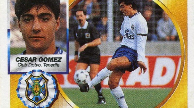 Liga 94-95. César Gómez (C.D. Tenerife). Ediciones Este. 📸: Grupo de Facebook Nuestros álbumes de cromos.